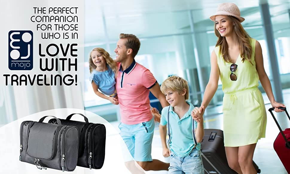 af1b121990 Mojo hanging travel toiletry bag - the perfect companion for those who is  in love with traveling!
