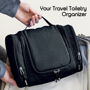 8cecbbca4a Amazon.com   Toiletry Kit - Hanging Toiletry Bag with Travel Bottles ...