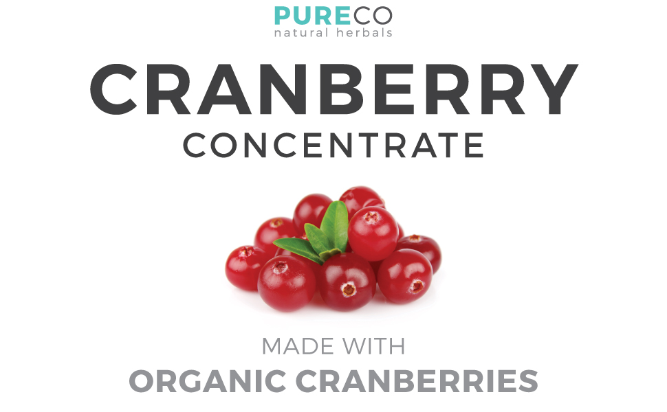 Pure Co Organic Cranberry Concentrate