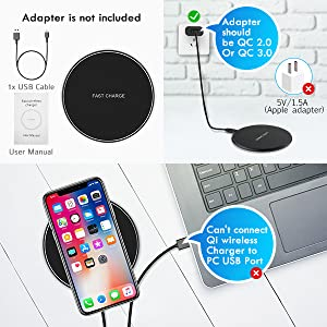wireless charger for iphone x