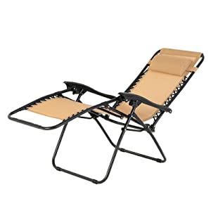 Beach/Chairs/Folding/Lightweight Chaise/Lounge Adjustable Recliner Lawn Garden Pool Patio with Pillow Mecor Lounge/Chairs/for/Outside