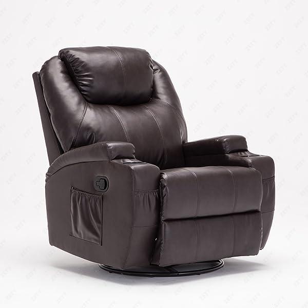 RECLINER GENIUS Leather Massage Recliner Chair ,Black - Amazon.com: RECLINER GENIUS Leather Recliner Chair Heated Massage