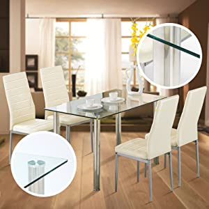 Dining Table With Chairs Set Of 4