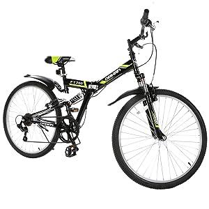 Gtm 26 Folding Mountain Bike 7 Speed Bicycle Shimano