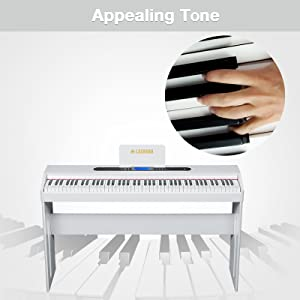 88 Key Digital Grand Piano Console Keyboard Piano