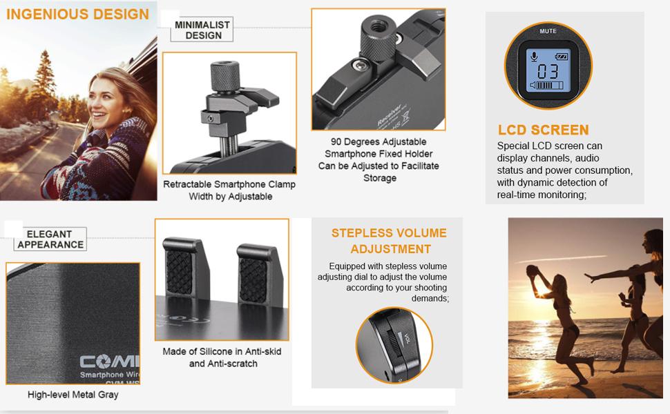 smartphone wireless lavalier microphone