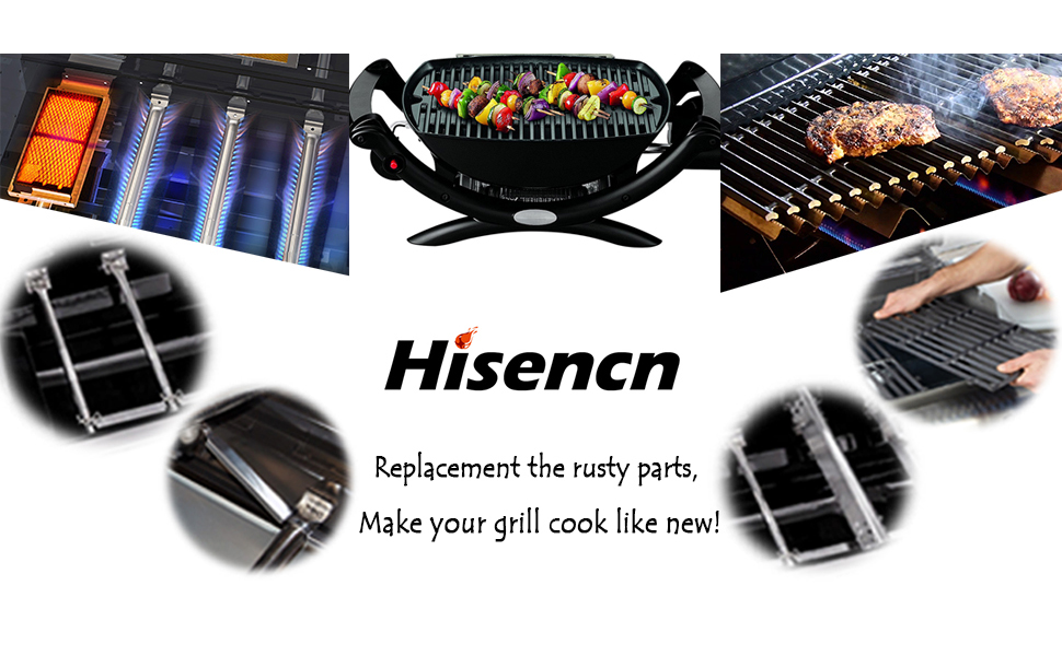 Hisencn Replacement Cast Iron Grill Pipe Burner /(3-pack