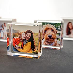 photos print on glass your custom gifts personalized clear picture frame office desk frame decor