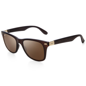 Amazon.com: Juli Mens Womens Fashion Wayfarer madera de ...