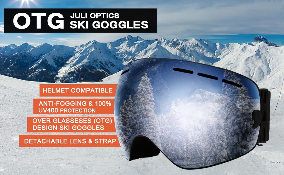 Winter Anti-UV Snow Lens Framless Snowboard Sking Goggles Protect Glasses ePk5r