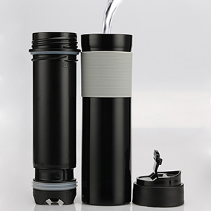 pour hot water to french press coffee maker 6 cup portable plastic tumbler tea or coffee