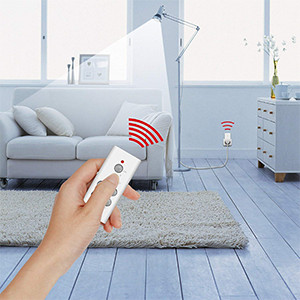 Etekcity Remote Control Outlet Wireless Light Switch for Household  Appliances, Plug and Go, Up to 100 ft  Range, FCC ETL Listed, White  (Learning Code,