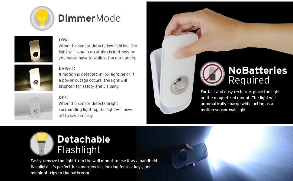 Etekcity 2 Pack Led Night Light Flashlight Rechargeable