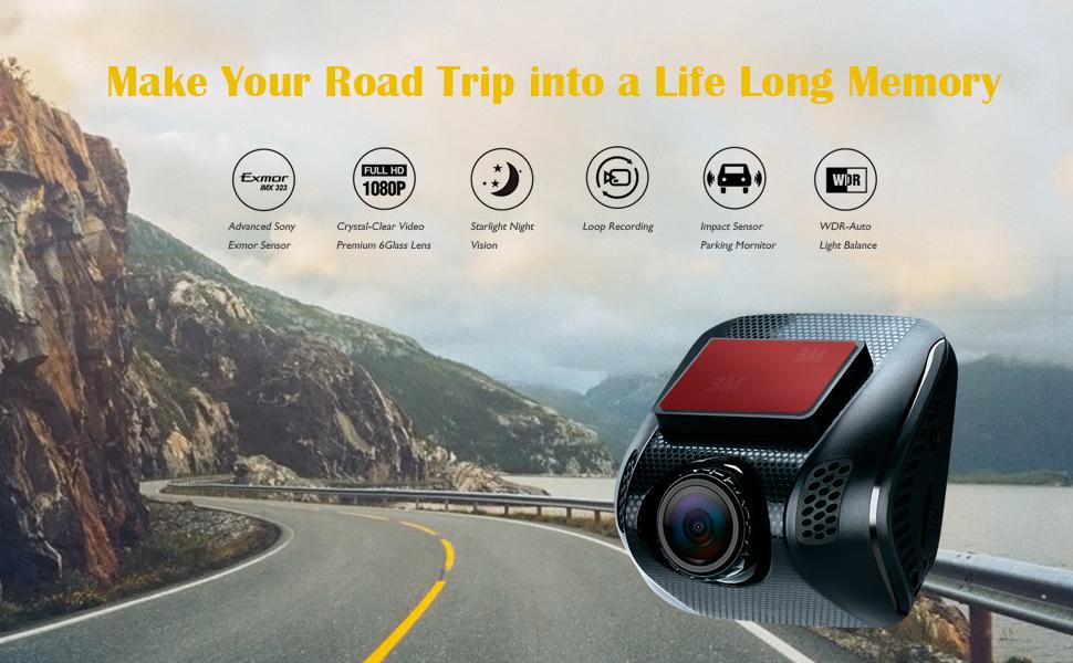 Acumen FHD 1080p Dual Dash Cam Dashboard Camera Recorder with Sony Exmor Sensor