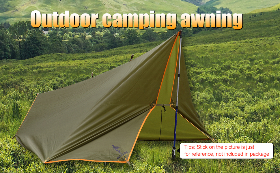 Waterproof Rain tarp/Rain fly/Backpacking tarp/Tarp shelter/C&ing Tarp/Tarp Tent & Amazon.com : FREE SOLDIER Large Waterproof Tarp Multifunctional ...