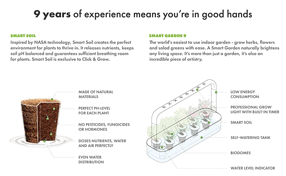 smart soil garden 9 3 years of experience high end technology planter growing kit low energy usage