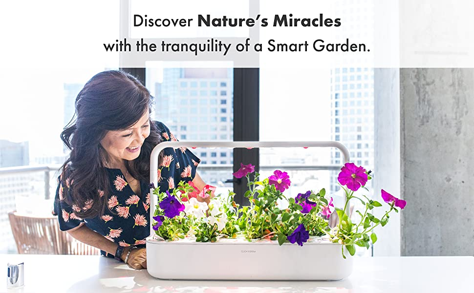 discover nature's miracles with the tranquility of a indoor smart home herb garden planter sensor