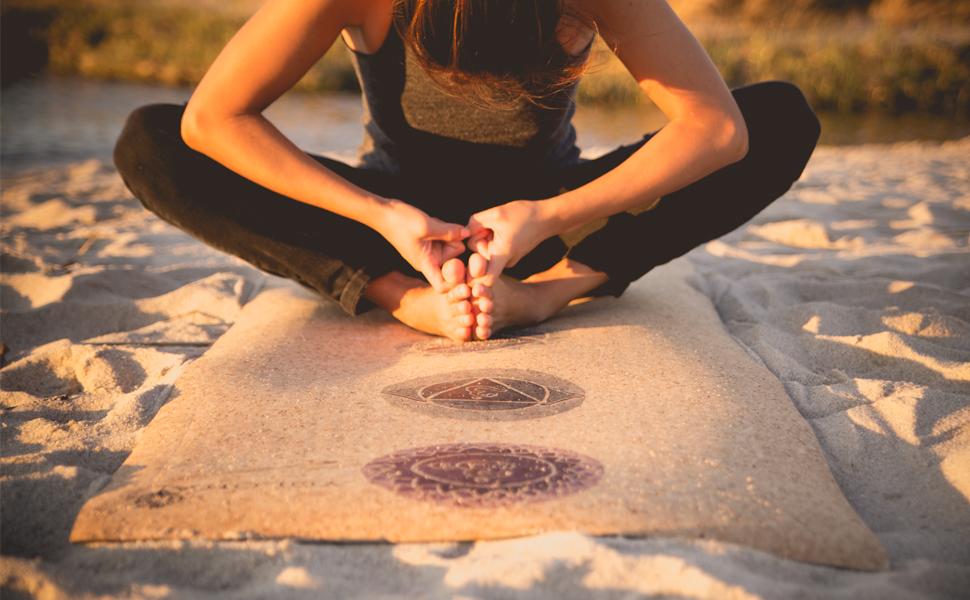 Amazon.com: Yoloha - Esterilla de yoga de corcho Nomad ...