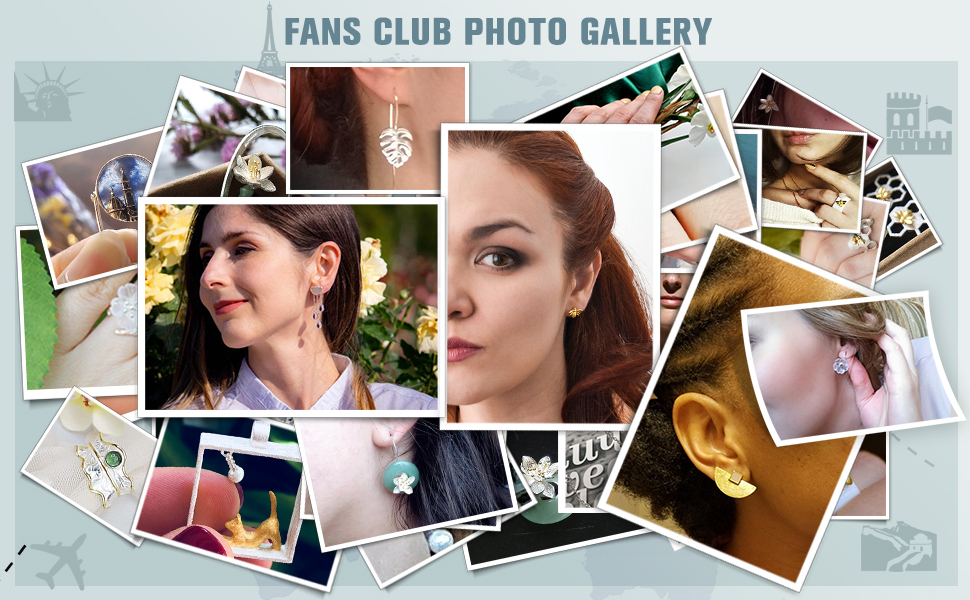 Many photos are superimposed, and each photo is a display of jewelry