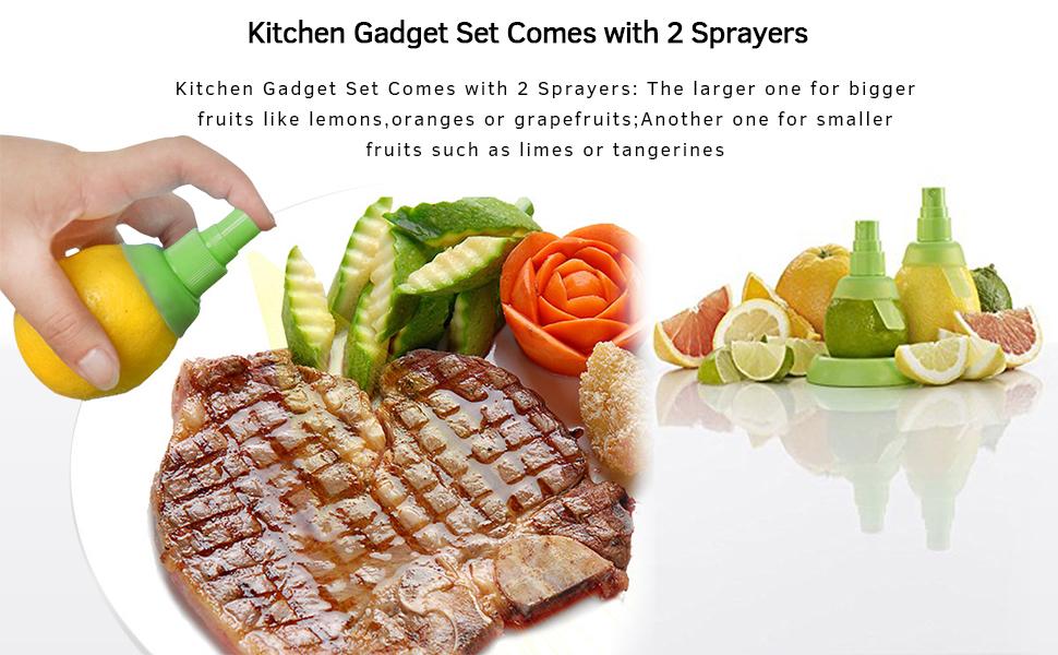Kitchen gadget set lemon spritzer sprayer lemon sprayer gadget lemon juice spray juice sprayer