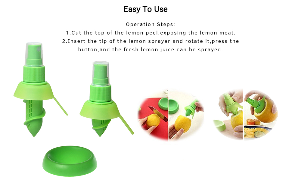 fruit sprayer citrus juice sprayer juice spritzer squeeze lemon tool fresh lemon sprayer gadger