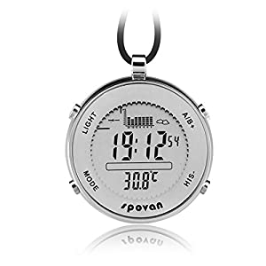 Dgyao men 39 s sport watch pocket watch style with altimeter for Barometric pressure forecast for fishing