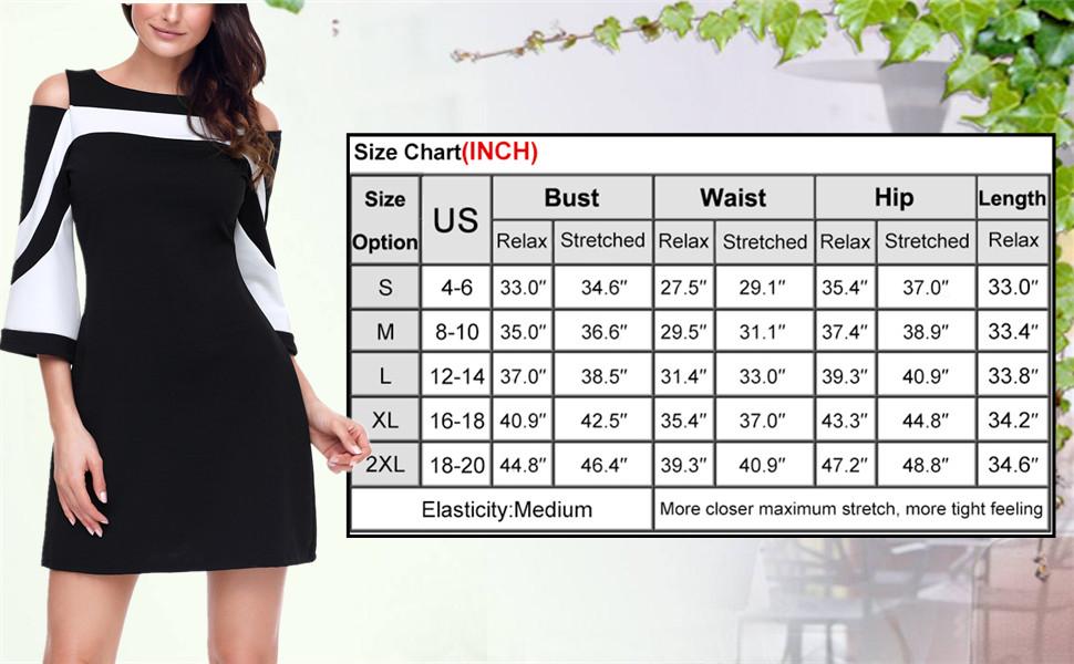 5746d5b2c8 SEBOWEL Women s Chic Colorblock Casual Cold Shoulder Bell Sleeve ...