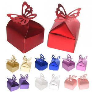 Amazon fvstar 50pcs butterfly wedding favors boxes candy box flat shipingincluding 50pcs favors boxes easy solutioingenieria Choice Image