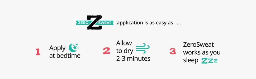 zerosweat anitpersispirant deodorant block sweat stop sweating natural strong