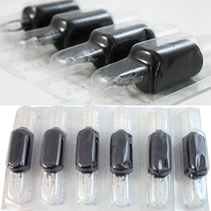 "ITATOO Tubes Round Tip 25pcs 25mm 1"" Silicone Soft Black Disposable Tattoo Tubes"