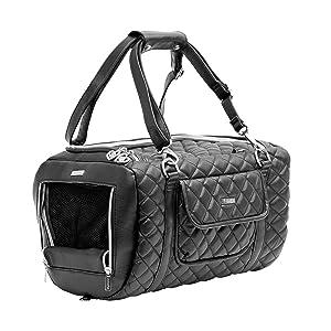 airplane compliant dog bag and dog car seat