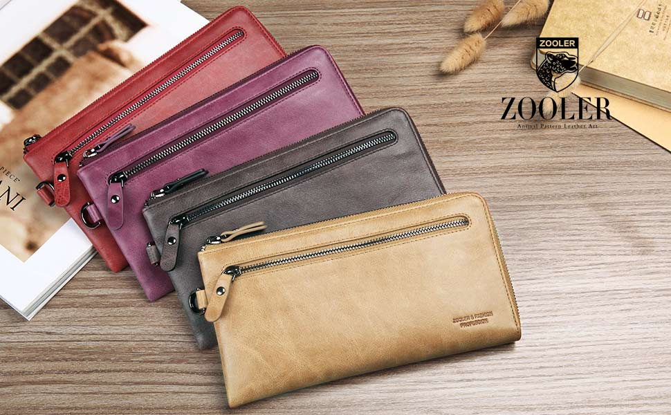 675eb63e5994 ZOOLER Womens Leather Wallets Purses Card Case RFID Blocking Vintage Bifold  Wallet