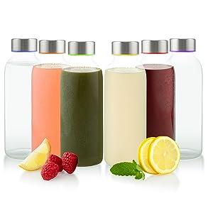 Amazon.com: 758330918280 Glèur - Juego de 6 botellas de ...