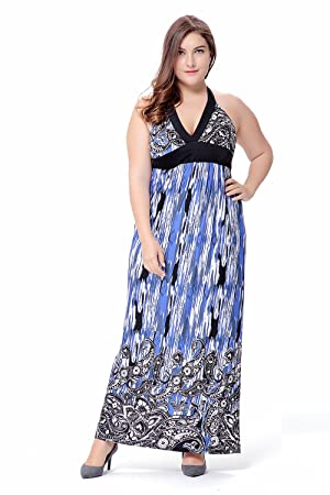 Wicky Ls Womens Vintage Halter Printing Dress Plus For Special