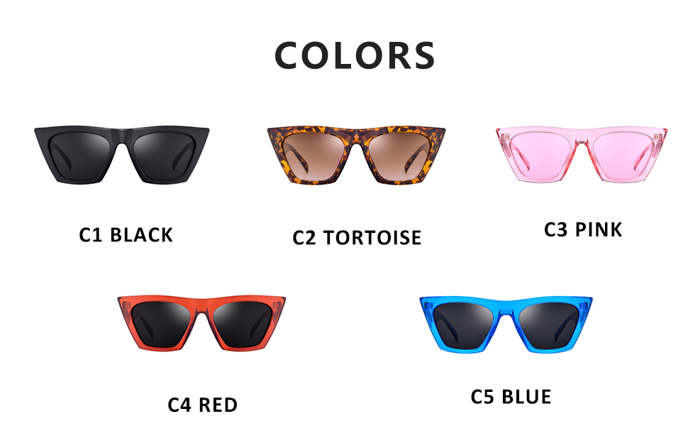 Mosanana Square Cateye Sunglasses for Women Fashion Trendy Style MS51801