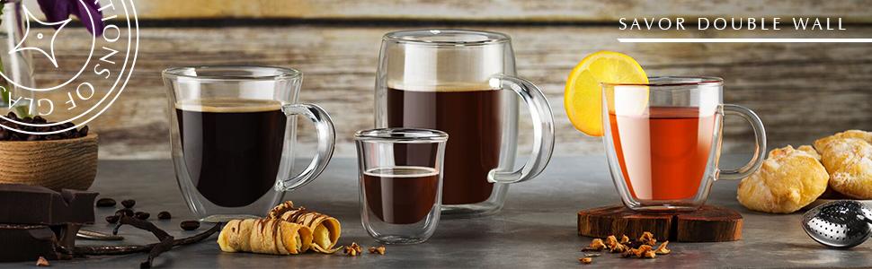 Double Wall Glasses Double Wall Jumbo Coffee Double Wall Espresso Mug