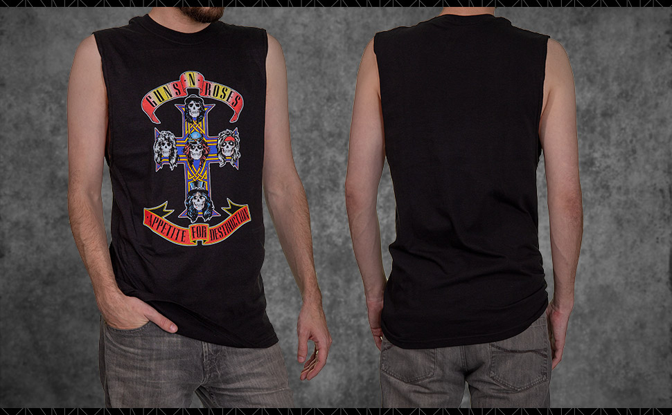 Amazon.com: Guns N Roses Appetite for Destruction - Camiseta ...