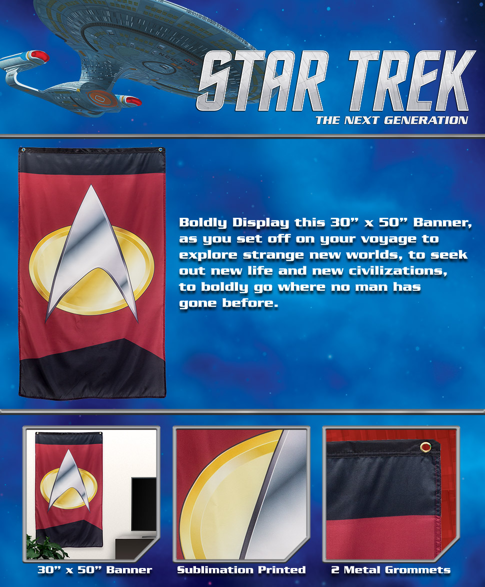 "Amazon.com: Star Trek Badge Banner 30"" x 50"" ..."