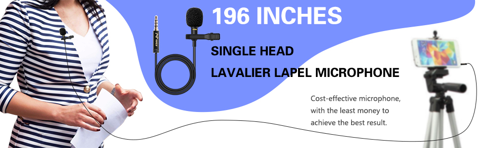 lavalier mic for iPhone iPad computer recording mic youtube video shooting lapel mic facebook live