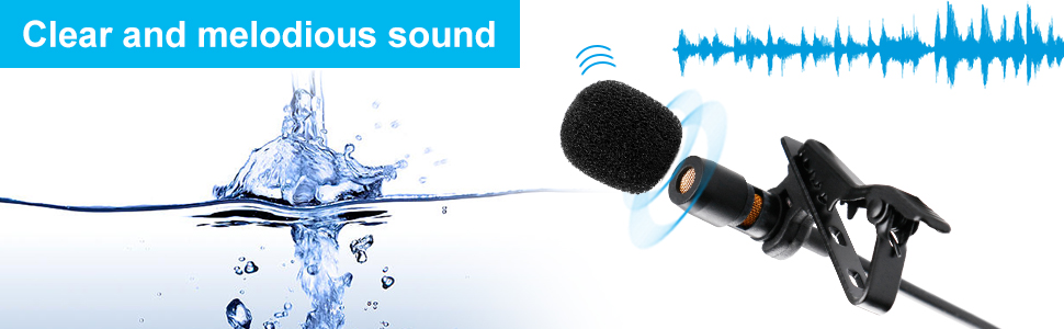 Lavalier Clip-on Microphone