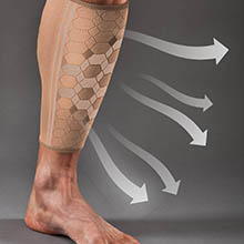 Calf Compression Sleeve by SPARTHOS (Pair) Leg Brace for Men and Women Shin Splint Calf Pain Relief