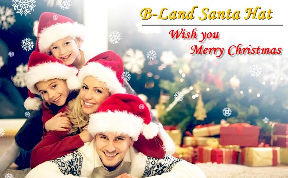 cdf1c28506e7c Amazon.com  B-Land Unisex-Adult s Santa Hat