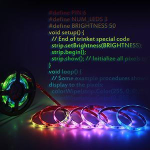 ALITOVE WS2811 LED Strip RGB Addressable LED Rope Light 12V 5m 150 LEDs  Dream Color Programmable Digital LED Pixel Lights Waterproof IP65 with 3M  VHB