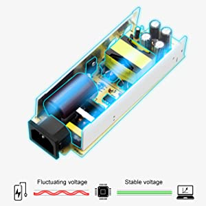 CVBN Transformador de Fuente de alimentaci/ón DC 12V 2A AC Adaptador para 5050 5630 3528 LED Strip EU Negro