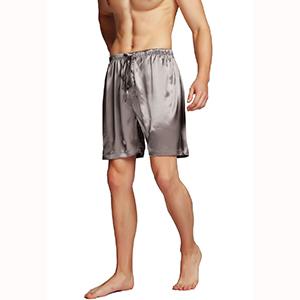Männer Nachtwäsche Shorts Pyjama Seidensatin Homewear Shorts  H//J