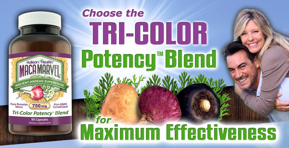Maca Marvel, Tri-Color Organic Maca Powder Capsule Pills, Peruvian,  Gelatinized for Better
