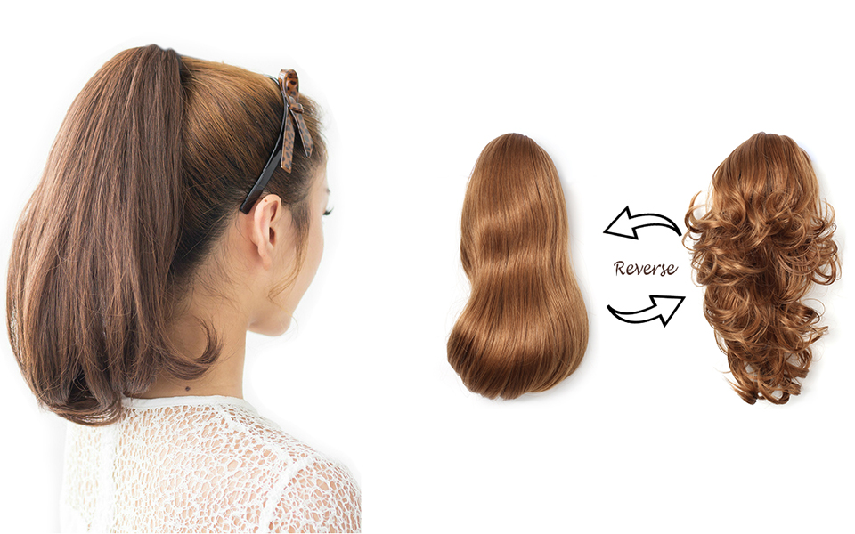 Amazon Onedor 15 Synthetic Fiber Curly Ponytail Hair