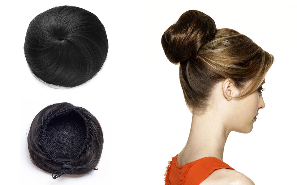 Amazon Onedor Synthetic Fiber Hair Extension Chignon Donut Bun