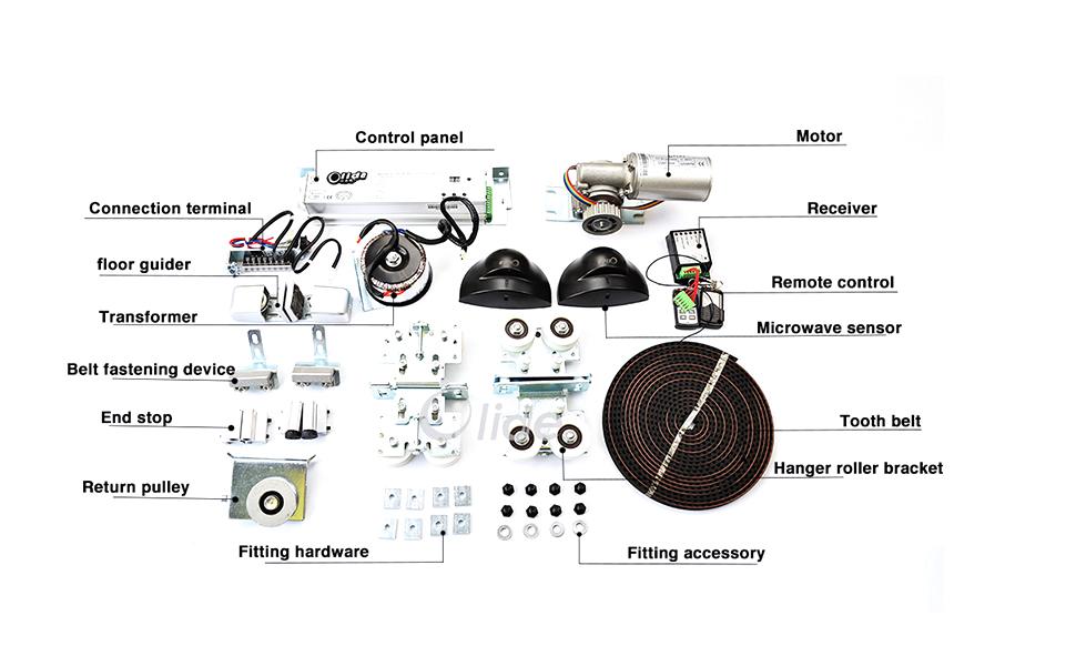 olide automatic sliding door opener operator, automatic door operator garage door installation es200 wiring diagram (connection scheme)