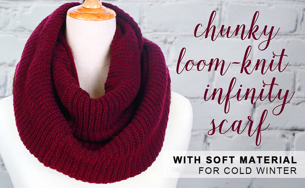 Knitting Loop Scarf : Knit winter infinity scarf for women fashion thick warm circle